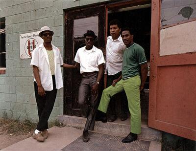 Evelyn Hofer, 'Four Young Men, Washington', 1975