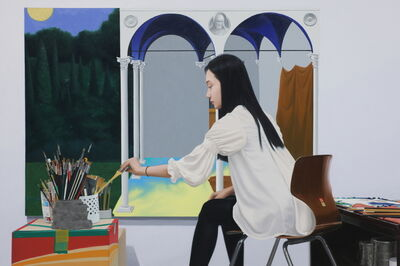 Sung Kook Kim, 'Painting a White Painting', 2012