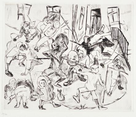 Max Beckmann, 'Playing Children, Broad Format', 1918