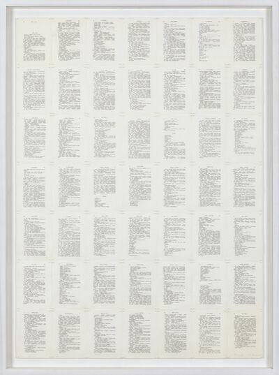 Irma Blank, 'Trascrizioni, Thinking III', 1974