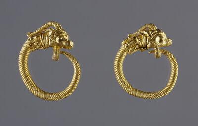 'Hoop Earrings with Antelope-head Finials', 220 BCE - 100 BCE