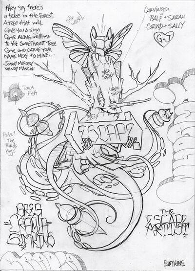 Greg 'Craola' Simkins, 'The Sweetheart Tree Study'