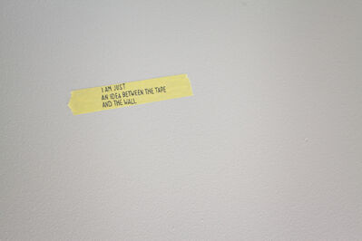 Navid Nuur, 'I am just an idea between the tape and the wall'