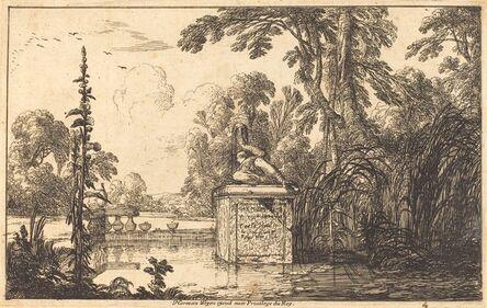 Laurent de La Hyre, 'Pool in a Formal Garden', 1640
