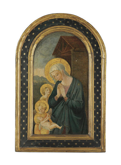 Pseudo-Pier Francesco Fiorentino, 'The Madonna and Child with Saint John the Baptist and an angel'
