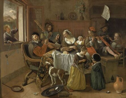 Jan Steen, 'The Merry Family', 1668