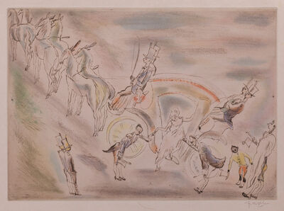 Jules Pascin, 'Cendrillon (Cinderella, alighting from the carriage)', 1929