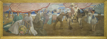 Frederick Carl Frieseke, 'Afternoon at the Beach', 1905-1906