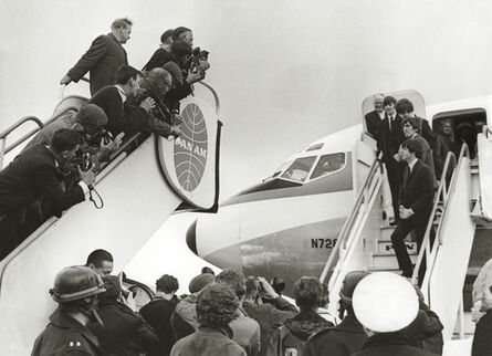 Terry O'Neill, 'The Beatles Arrive in the US on Pan Am', 1964
