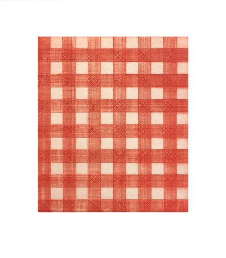 Michelle Grabner, 'Warm Red Gingham', 2015