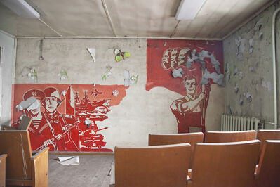 Victoria Crayhon, 'Assembly Room in Abandoned Meat-Packing Plant', 2011