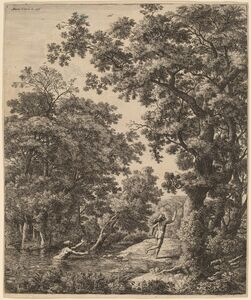 Anthonie Waterloo, 'Landscape with Alpheus and Arethusa'