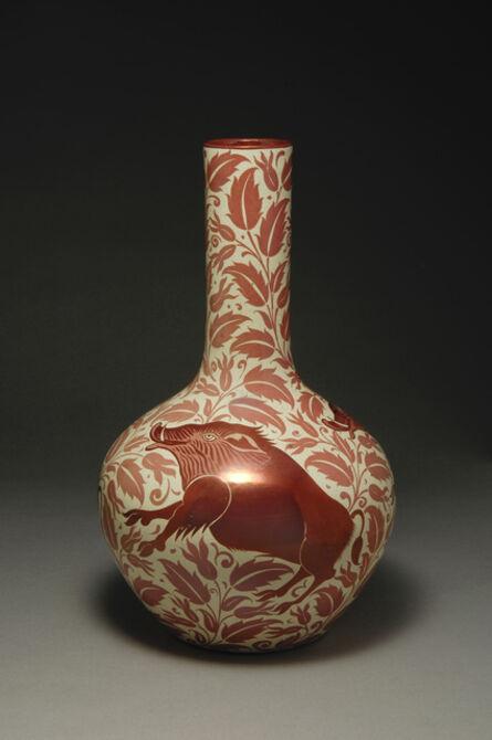 William De Morgan, 'The Three Boar Vase', ca. 1885