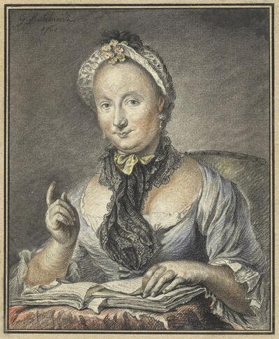 Georg Friedrich Schmidt, 'The Artist's Wife with a Book', 1752