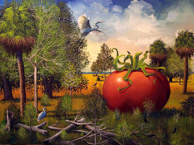 Bill Mead, 'Huge Tomato with Herons', 2014