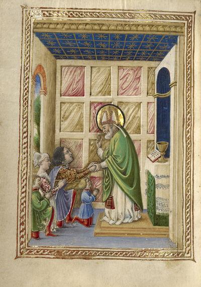 Taddeo Crivelli, 'Saint Bellinus Celebrating Mass', 1469