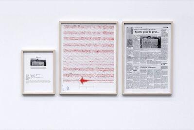 Gianni Motti, 'Revendication, Terremoto, Rhône-Alpes', 1994