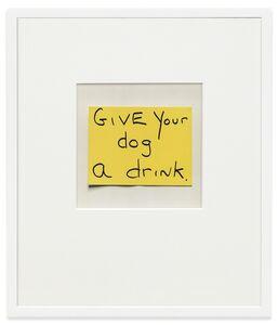 Keith Arnatt, 'Notes, Lables Borrowed/Stolen', 1993