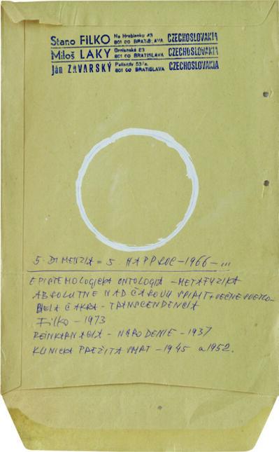 Stano Filko, '5. DIMENSION = 5.HAPPSOC, 1966, EPISTOMOLOGIC ONTOLOGY METAPHYSIC', 1973