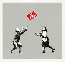 Banksy, 'No Ball Games (Grey) (Signed)', 2009