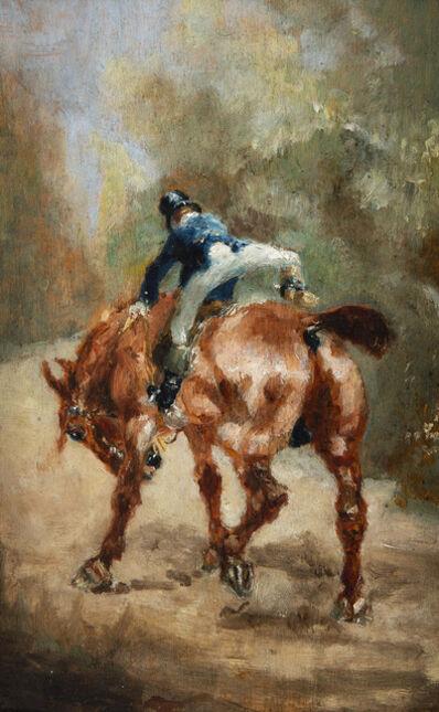 Henri de Toulouse-Lautrec, 'Jeune cavalier enfourchant sa monture', 1880