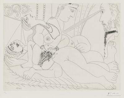 Pablo Picasso, 'La maison tellier, filles entre elles, Degas sidéré 1971, plate III from Séries 156', 1978