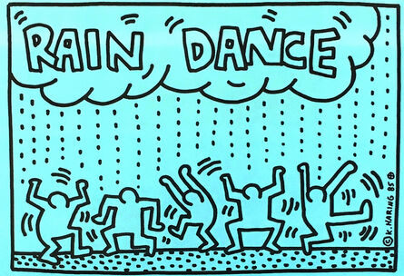 Keith Haring, 'Rain Dance', 1985