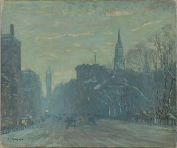 Arthur Clifton Goodwin, 'Late Afternoon, Boylston Street, Boston'