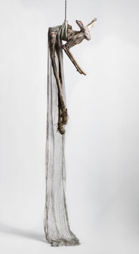 Elizabeth Jordan, 'Sculpture of hare suspended from chain: 'Children 6'', 2020
