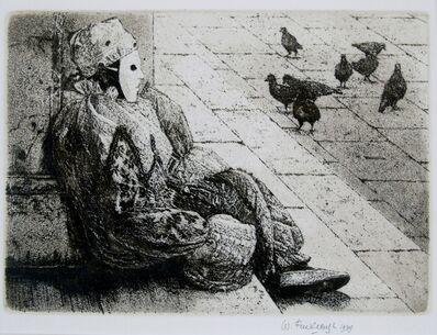 Wilfred Fairclough, 'Carnival Piazza, Venice', 1989
