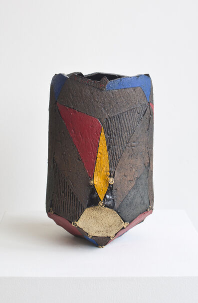 Andile Dyalvane, 'Scarified Cylinder Diamond medium vase ', 2014