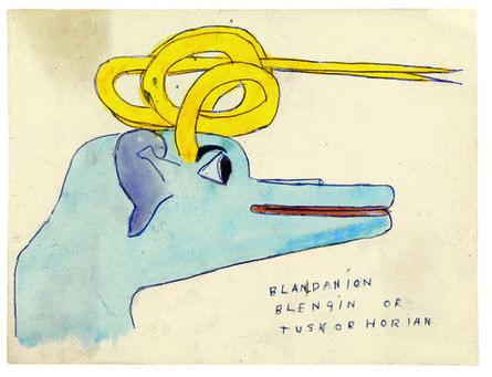 Henry Darger, 'Blandanion Blengin or Tuskorhorian', 1910-1970