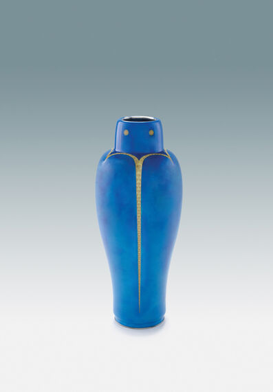 'Azure Blue Vase in Jewel-Beetle Form', ca. 1936-1940