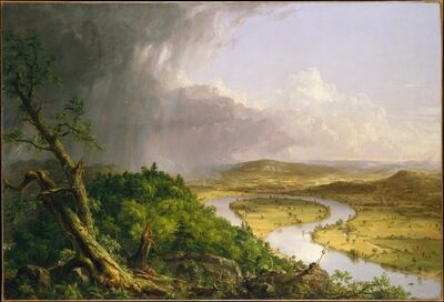 Thomas Cole, 'View from Mount Holyoke, Northampton, Massachusetts, after a Thunderstorm—The Oxbow', 1836