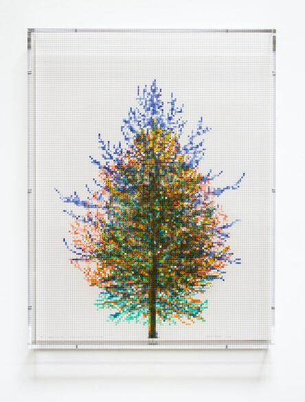Charles Gaines, 'Numbers and Trees, Tiergarten Series 3: Tree #6, September, 2018', 2018