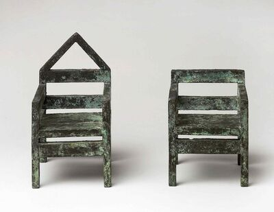 Bob Law, 'King and Queen Chairs (II)', 1983