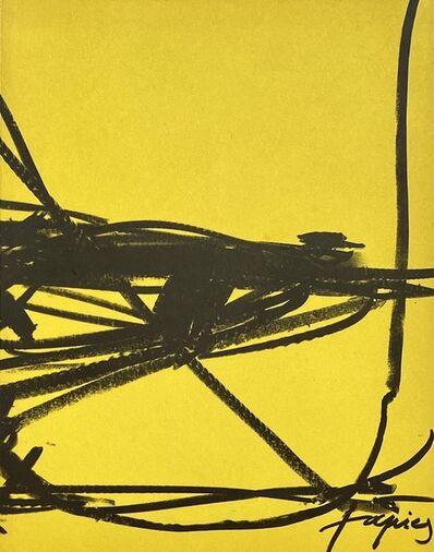 Antoni Tàpies, '1960s Antoni Tàpies lithographic cover ', 1969