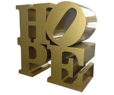 Robert Indiana, 'HOPE, gold', 2009
