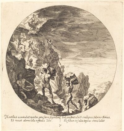 Georg Andreas Wolfgang, the Elder, 'Giants Repelled by Jove', 1665