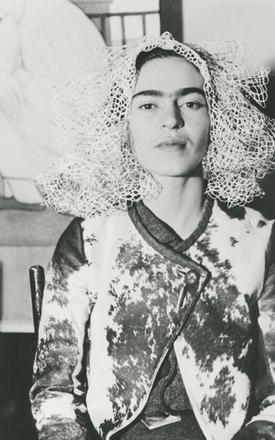 Lucienne Bloch, 'Frida With Doily On Her Head, New York', 1935