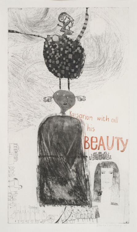 David Hockney, 'Kaisarion with all his beauty', 1961
