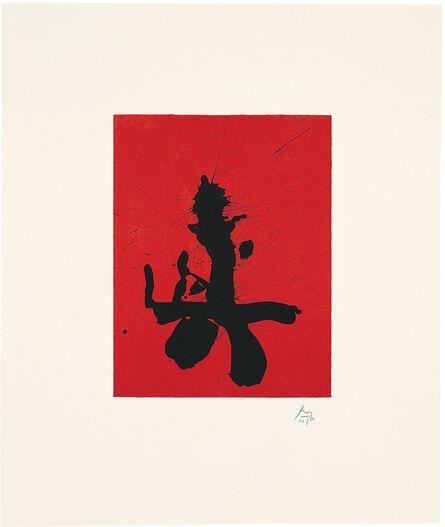 Robert Motherwell, 'Octavio Paz Suite: Red Samurai', 1988