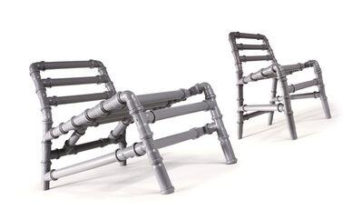 """Lorenzo Damiani, '""""Tuttitubi"""" chairs', 2003"""