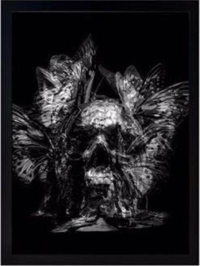 Philippe Pasqua, 'Skull (White)'