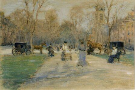 Arthur Clifton Goodwin, 'Commonwealth Ave, Boston', ca. 1910