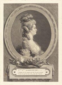 Augustin de Saint-Aubin, 'Louise Emilie Baronne de ***', 1779