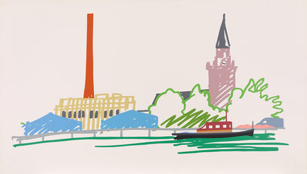 Tom Wesselmann, 'Thames Scene with Power Station', 1990