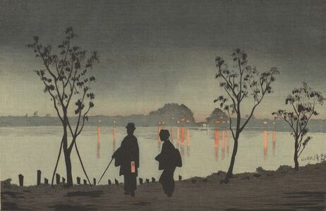 Kobayashi Kiyochika 小林清親, 'Sumida River by Night', Meiji era-1881