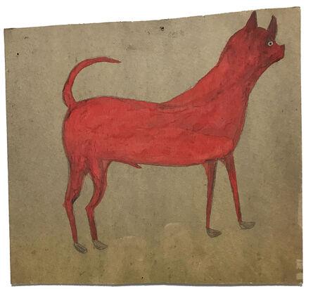 Bill Traylor, 'Untitled (Red/ Orange Dog)', 1939-1942