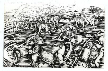 Julio Cesar Candelario, 'Chimpanzees No Human Migration', 2015